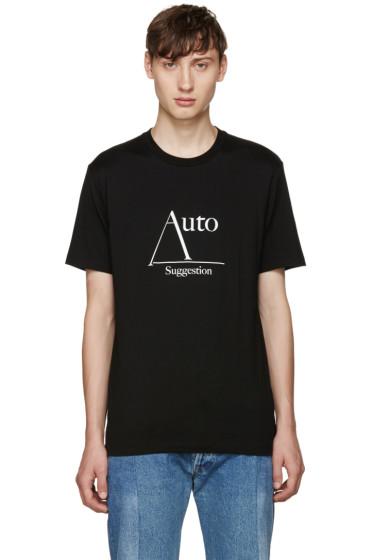 Johnlawrencesullivan - Black 'Auto Suggestion' T-Shirt