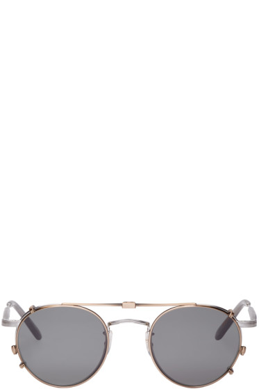 Garrett Leight - Silver Wilson M Clip-On Glasses
