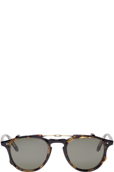 Garrett Leight - Black & Tortoise Hampton Clip-On Glasses