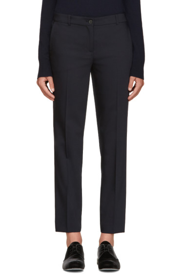 Jil Sander Navy - Navy Wool Trousers