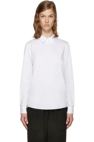 Jil Sander Navy - White Poplin Shirt