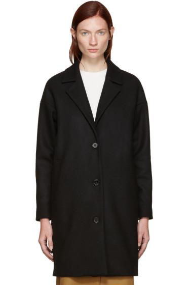 Won Hundred - Black Wool Key Coat