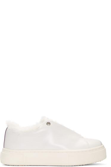 Eytys - White Leather Doja Arctic Sneakers