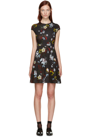 Erdem - Black Floral Darlina Dress