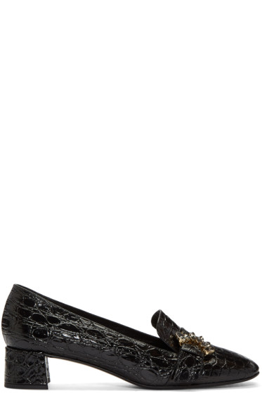 Erdem - Black Embellished Loafers