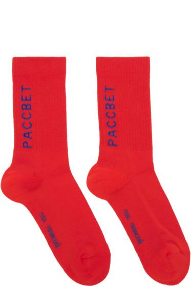 Gosha Rubchinskiy - Red Jacquard Socks