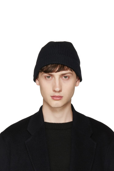 Lemaire - Navy Ribbed Beanie