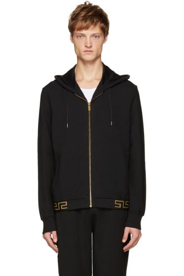 Versace Underwear - Black & Gold Zip Hoodie