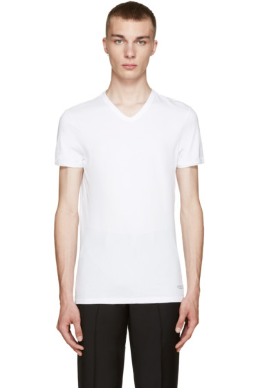 Versace Underwear - White V-Neck T-Shirt