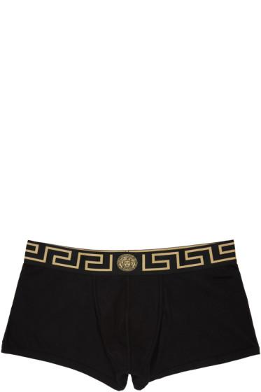 Versace Underwear - Black Boxer Briefs Two-Pack