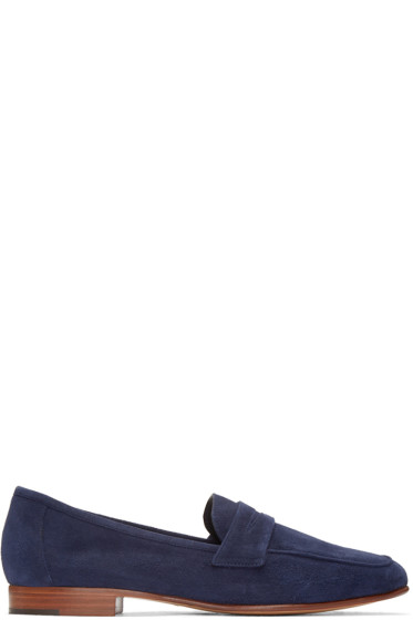 Mansur Gavriel - Navy Suede Classic Loafers