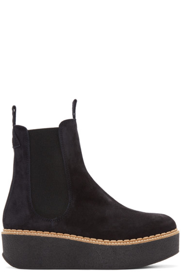 Flamingos - Black Suede Deltona Ankle Boots
