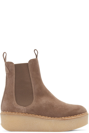 Flamingos - Taupe Suede Deltona Ankle Boots