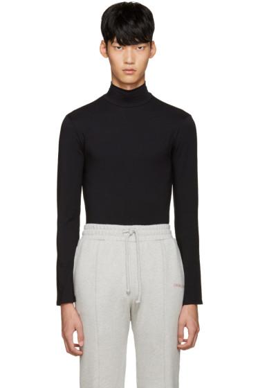 Vetements - SSENSE Exclusive Black Mock Neck T-Shirt