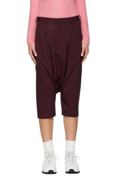 Comme des Garçons Girl - Burgundy Cropped Sarouel Trousers
