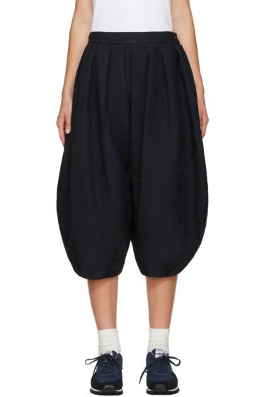 Comme des Garçons Comme des Garçons - Navy Voluminous Pleated Trousers