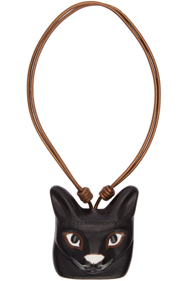 Loewe - Black Cat Face Necklace