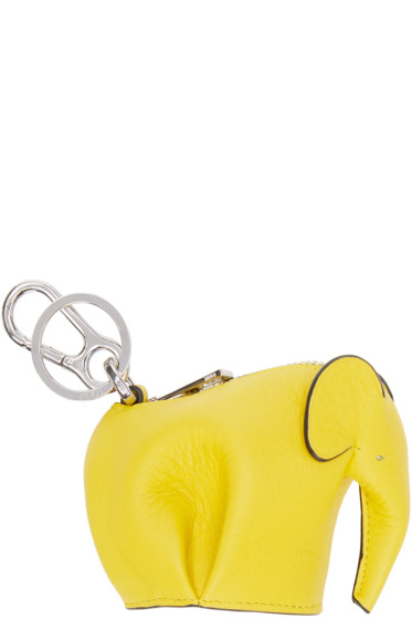 Loewe - Yellow Elephant Keychain