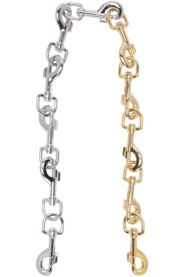 Loewe - Gold & Silver Hook Chain Shoulder Strap