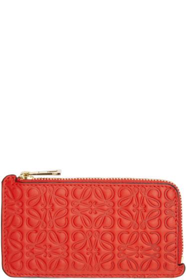 Loewe - Red Anagram Card Holder