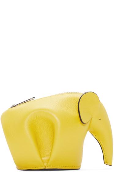 Loewe - Yellow Elephant Coin Purse