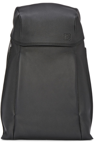 Loewe - Black Leather T Backpack