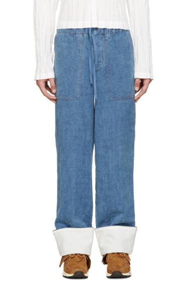 Loewe - Blue Leopard Pocket Trousers