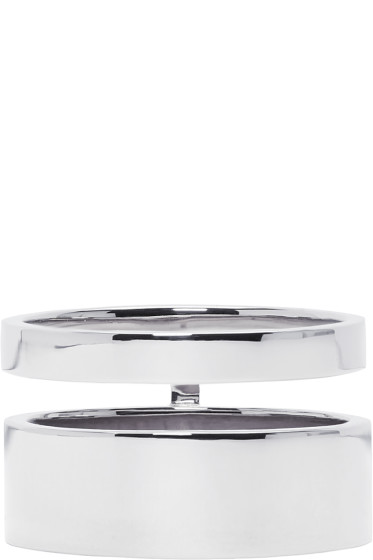 Repossi - White Gold Double Band Berbere Ring