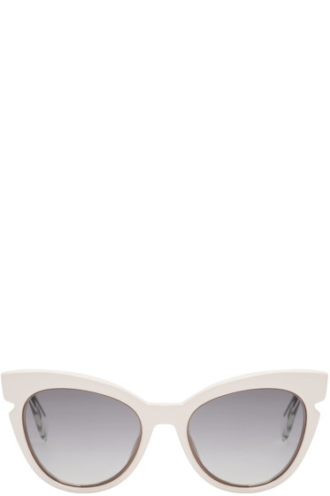 Fendi - Ivory Cat-Eye Sunglasses