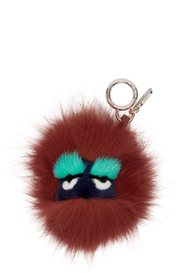 Fendi - Red Fur Ball Keychain