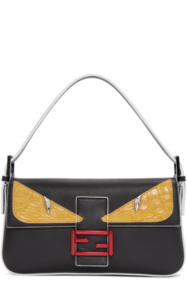 Fendi - Black Eyes Baguette Bag