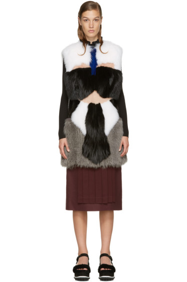 Fendi - Multicolor Karlito Fox Fur Vest