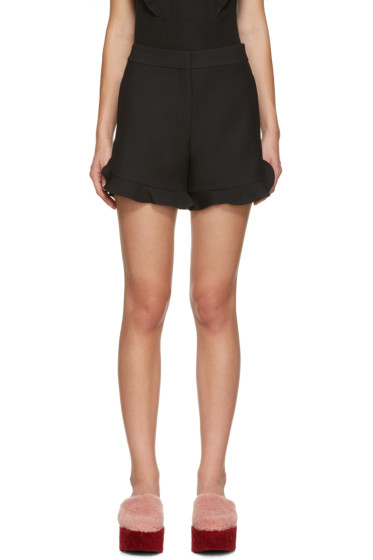 Fendi - Black Ruffled Shorts