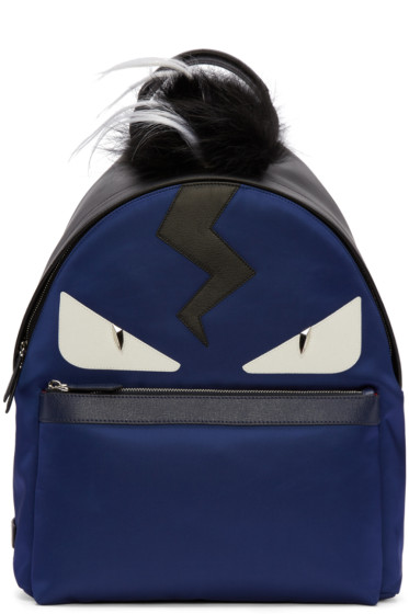 Fendi - Blue Monster Backpack
