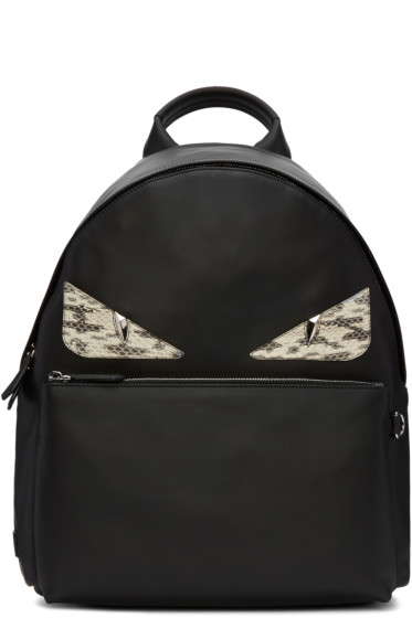 Fendi - Black Monster Backpack