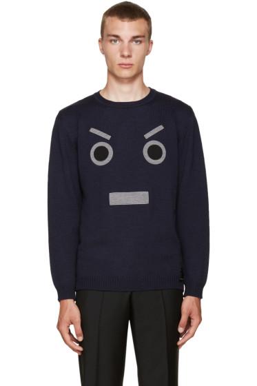 Fendi - Navy Large Face Sweater