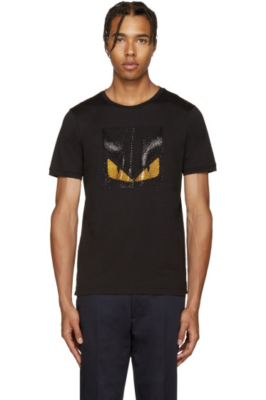 Fendi - Black Crystal Monster T-Shirt