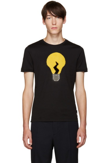 Fendi - Black Fur Light Bulb T-Shirt