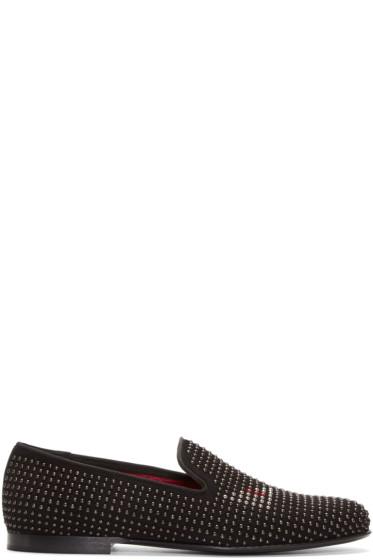 Fendi - Black Studded Monster Eyes Loafers