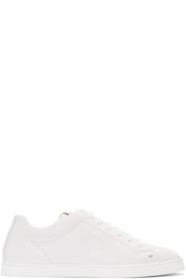 Fendi - White Leather Sneakers