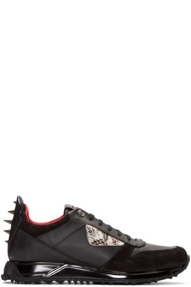 Fendi - Black Monster Eyes Sneakers