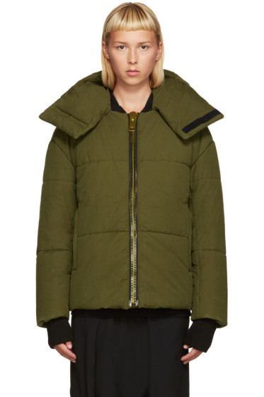 Palm Angels - Green Down Maxi Puller Jacket