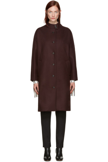 Aalto - Burgundy Dropped Shoulder Coat