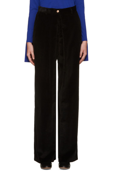 Aalto - Black Pleated Corduroy Trousers