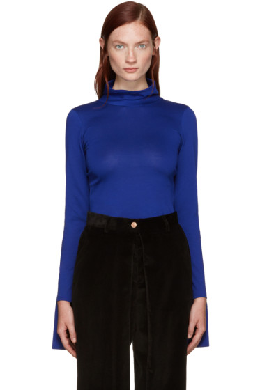 Aalto - Blue Cotton Turtleneck