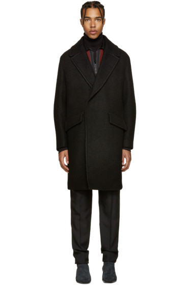 Wooyoungmi - Black Wide Lapel Coat