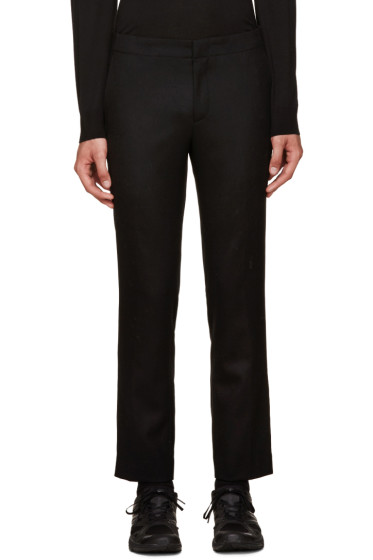 Wooyoungmi - Black Wool Trousers