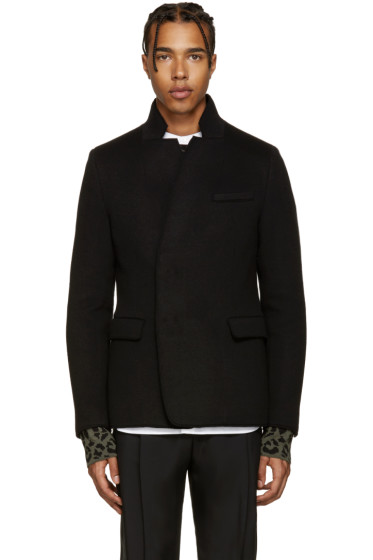 Wooyoungmi - Black Notched Collar Blazer