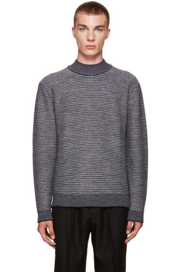 Wooyoungmi - Grey Mock Neck Sweater