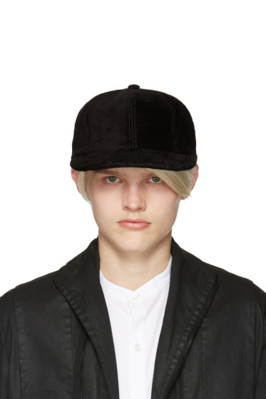 Attachment - Black Faux-Fur Cap